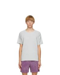 Homme Plissé Issey Miyake Grey Crewneck T Shirt