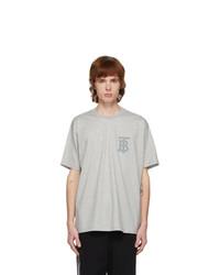 Burberry Grey Emerson Monogram T Shirt