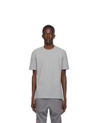 Thom Browne Grey Engineered 4 Bar Pique T Shirt