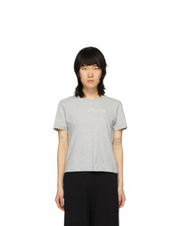 MM6 MAISON MARGIELA Grey Fitted T Shirt