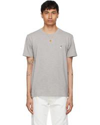 MAISON KITSUNÉ Grey Fox Head Patch Classic T Shirt