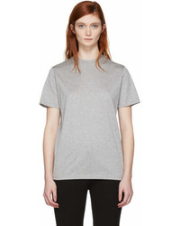 Prada Grey Gum Patch Logo T Shirt