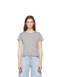 Agolde Grey Linda Boxy T Shirt