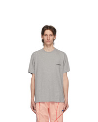 Vetements Grey Logo Front Back T Shirt