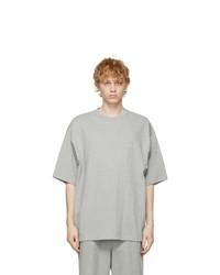 We11done Grey Logo T Shirt
