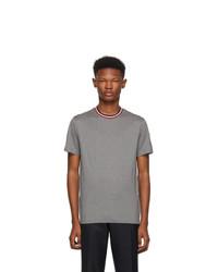 Moncler Grey Maglia Contrast Collar T Shirt