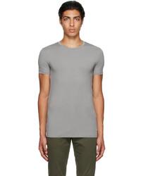 Ermenegildo Zegna Grey Micromodal Crewneck T Shirt