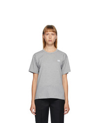 Acne Studios Grey Nash Face T Shirt