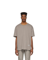 Essentials Grey Reflective Logo T Shirt