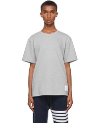 Thom Browne Grey Relaxed Fit Side Slit T Shirt