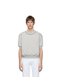 Random Identities Grey Short Sleeve Sweatshirt