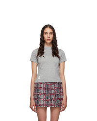 Thom Browne Grey Side Slit Relaxed Fit T Shirt