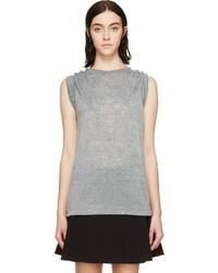 Isabel Marant Heather Grey Safety Pin Dewey T Shirt