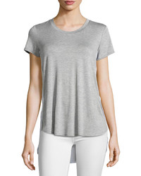 Hilda B Silk Back Colorblock Tee Greywhite