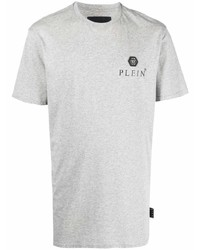 Philipp Plein Logo Plaque Cotton T Shirt