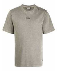 Puma Logo Print Crew Neck T Shirt