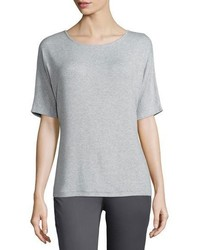 Vince Luxe Ribbed Crewneck Tee