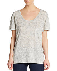 Michael Stars Heathered Linen Dropped Shoulder Tee