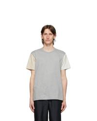 Comme des Garcons Homme Deux Multicolor Colored Sleeves T Shirt