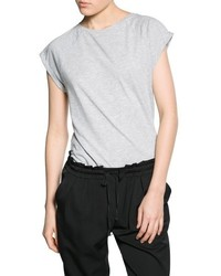 Mango Outlet Rolled Up Sleeve T Shirt