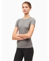 Calvin Klein Performance Pima Cotton Stretch Crewneck T Shirt