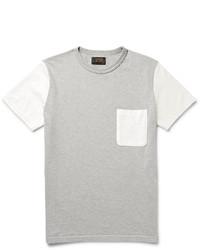 Beams Plus Colour Block Cotton Jersey T Shirt