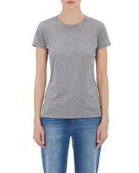 Valentino Pyramid Studded T Shirt Grey