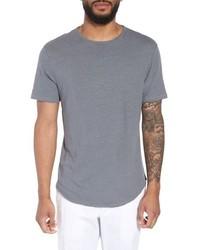 Vince Raw Hem Linen Cotton T Shirt