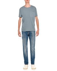 Rockstud basic crewneck short sleeve t shirt light blue medium 594486