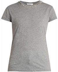 Valentino Rockstud Untitled 9 Cotton Jersey T Shirt