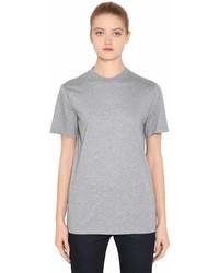 Prada Rubber Logo Patch Cotton Jersey T Shirt