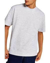 Topman Short Sleeve Crewneck Sweatshirt