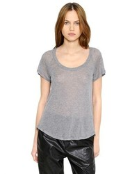Etoile Isabel Marant Silk Cashmere Blend Jersey T Shirt
