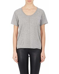 Skin Skin Silk Back Superfine Wool Blend T Shirt