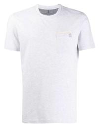 Brunello Cucinelli Slim Fit Embroidered Logo T Shirt