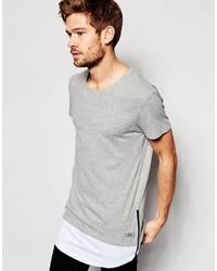 Esprit T Shirt With Longline Cut Sew Hem