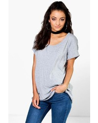 Boohoo Tall Jasmine Oversized Scoop Neck Tee