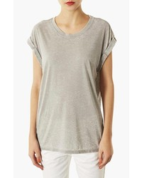Topshop Burnout Tee Grey 6