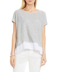 Vince Camuto Two By Chiffon Highlow Hem Knit Tee