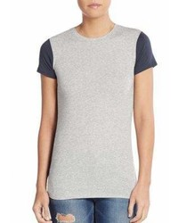 Vince Two Tone Pima Cotton Modal Tee