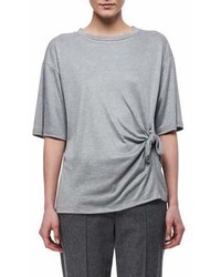 Victoria Beckham Victoria Knotted Side Cotton T Shirt