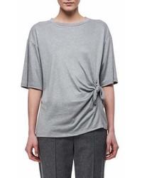 Victoria Victoria Beckham Knotted Side Cotton T Shirt