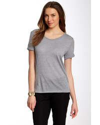 With Wessel Boyfriend Roll Up Sleeve Wool Tee