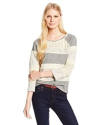 Lucky brand crochet pullover sweatshirt medium 305795