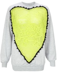 BRIGITTE Michla Buerger Neon Crochet Sweater