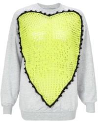 Michla buerger neon crochet sweater medium 305796