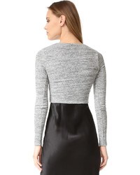 Alice + Olivia Air Jori Fitted Crop Top