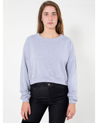 American Apparel California Fleece Cropped Sweatshirt