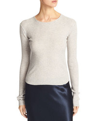 Vince Cashmere Ribbed Cropped Sweater