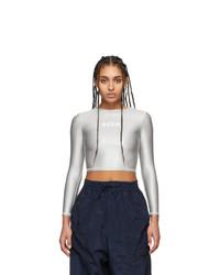 MSGM Grey Sport Long Sleeve T Shirt